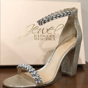 Badgley Mishka jeweled wedding prom heels!